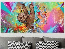 WEISE XXL Acryl BILD Abstrakt Gemälde Leinwand 75 x 150 auf Keilrahmen Nr.48/21