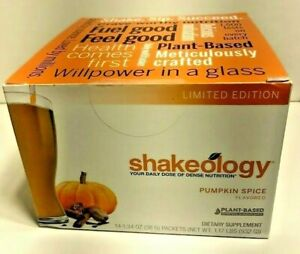 Shakeology Pumpkin Spice LIMITED EDITION! New/Sealed [Best By: 7/21] 14 Packets!