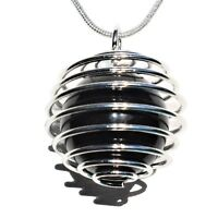 "CHARGED Rainbow Obsidian Hand-Polished Sphere Perfect Pendant™ + 20"" Chain"