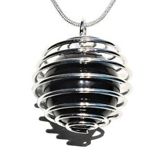 """CHARGED Rainbow Obsidian Hand-Polished Sphere Perfect Pendant™ + 20"""" Chain"""