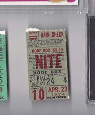 1974 4/22 baseball ticket Kansas City Royals Boston Red Sox Carl Yasrrzemski HR