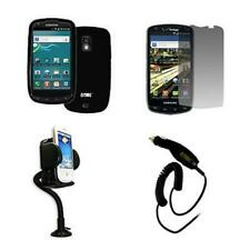 for Samsung Galaxy S Aviator R930 Black Case Gel+Screen Protector+Mount+Charger