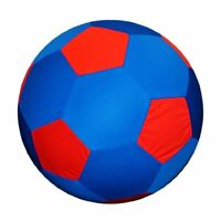 Mega Soccer Ball Cover Keeps Your Horse Entertained - 40 Inch Large Blue & Red