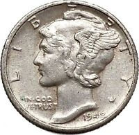 Mercury Winged Liberty Head 1942 Dime United States Silver Coin Fasces i43095