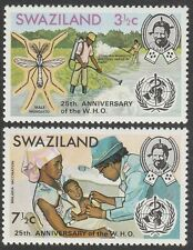 Swaziland 1973 25th Anniv of World Health Organization set. All Superb Mint.