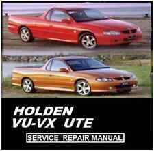 HOLDEN VX VU UTE  V6 V8 LS1   WORKSHOP SERVICE REPAIR MANUAL CD