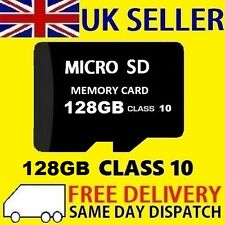 Carte Micro SD 128 Go Class 10 TF Flash Memory SDHC SDXC - 128 g-Vendeur Britannique-Neuf