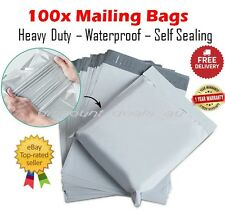 100x Medium Mailing Postage Courier Satchel Packaging Bags Poly Plastic 31x40cm