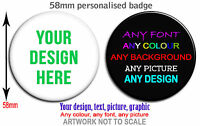Personalised badge button 58mm Hen, Stag, Birthday, Party, gifts Custom