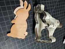 "Vintage steel rule leather,  cutting die ""Rabbit"" Mallet struck"