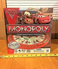 DISNEY PIXAR CARS 2 MONOPOLY BOARD GAME LIGHTNING MCQUEEN NEW SEALED