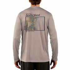 Amelia Island Nautical Chart Men's UPF 50+ UV/Sun Protection Long Sleeve T-Shirt