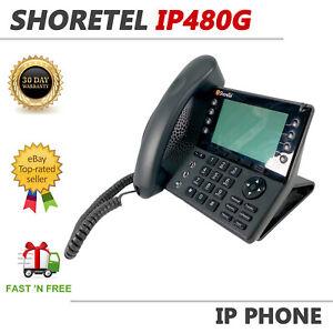 ShoreTel IP480G VoIP Gigabit Business Phone Black Display PoE