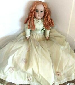 Antique 26 Inch AM Doll Armand Marseille Germany Bisque Creepy As Is