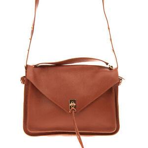 RRP €395 REBECCA MINKOFF Leather Crossbody Bag Grainy Turnlock Flap Closure