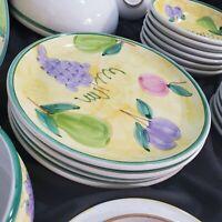 Caleca Frutta Dinnerware Set 34 Pieces 3 Serving + Service for 6 Handpainted Ita