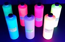 UV BLACK LIGHT BODY PAINT NEON FLUORESCENT GLOW AIRBRUSH PARTY RAVE NEON 16 OZ