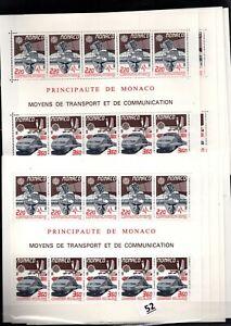 CE 10X MONACO - MNH - EUROPA CEPT 1988 - COMMUNICATIONS - TRAINS - WHOLESALE