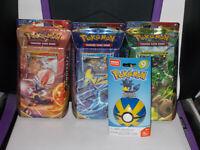 Pokemon Sword & Shield Theme Decks 3-Pack, Rillaboom Cinderace Inteleon pokeball