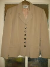 Wallis Vintage Beige Jacket Buttons Collar 1940s / 1950s Style Lined Size 14
