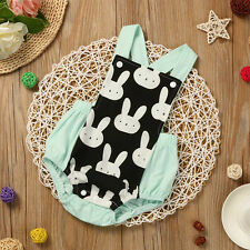Newborn Infant Baby Animal Print Backless Sleeveless Romper Jumpsuit Suspender
