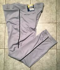 CHAMPRO * Mens GRAY / Black Athletic / Baseball Pants * Size XL