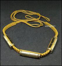 "Takrut Bullet Shell Thai Amulets Holy Powerful Magic Protection Belt Takrud 42"""