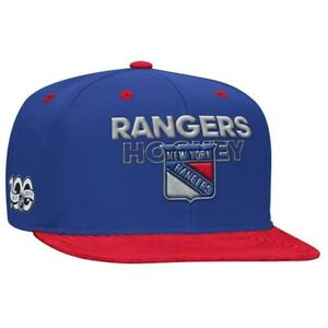 New York Rangers NHL Men's  Adidas Snapback, One size, Blue/Red