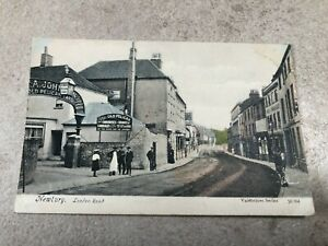 1900s colour postcard . newbury - london road ! old pelican