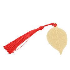 Creative Chinese Wind Red Tassel Leaf Bookmark Vintage Stationery