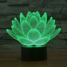 Lotus 3D Night Light 7 Colors Changing LED Table Lamp Gift