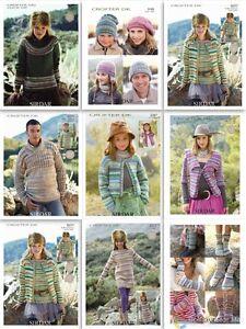 Sirdar  Crofter DK Patterns 2267 - 9377 £2.90 per pattern