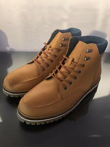 Mens Lacoste Boots Fleece Lined Tan Size 10 Eur 44.5