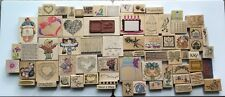 Rubber Stamps Lot 68 Hearts Rabbit Flowers Borders Sayings Christmas +  13 lbs