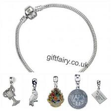 Official Genuine Harry Potter Silver Plated Charm Bracelet-Medium & 5 Charms