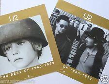 "U2 ""Best 1980-90"" 2-Sided U.S. Promo Poster - Group Shot & Album Cover Artwork"