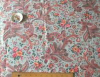 """Vintage American Never Used Cotton Floral Paisley Yardage c1930s~L-48"""" x W-36"""""""