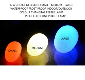Decorative Stone Garden Lamp Home Table Light Pebble Waterproof Floating 3 Sizes