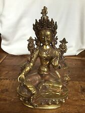 Handcarved Brass Buddhist Tara from Kathmandu