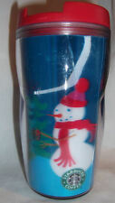 Starbucks Mug Travel Tumbler 8 oz Hologram Christmas Snowman 2004