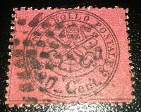 ANTICHI STATI Stato Pontificio 20 cent 1868 n.27