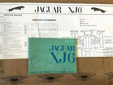 Manuel de Conduite Jaguar XJ6 2.8/4.2, avec Lubrifiants Recommandes, F152/2