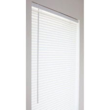 Window Mini Blind 36 x 64 in. Vinyl Cordless Shades Cover Privacy Safety White