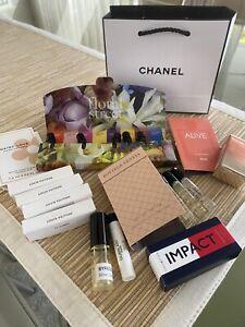 Perfume Sample Bundle: Includes Louis Vuitton, Guerlain, Tommy Hilfiger, Byredo