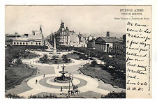 Plaza Victoria - Buenos Aires Photo Postcard c1905