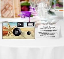 5 Starfish Paradise Disposable Camera, Single Use Cameras, Beach Wedding Camera
