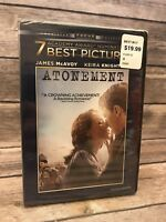 Atonement (DVD)James McAvoy Keira Knightley Vanessa Redgrave Brand New Sealed
