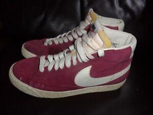 Nike Blazer Mid Premium Vintage, Magenta Suede ladies high top trainers size 6