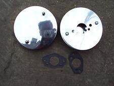 "PAIR Chrome Pancake Sports Air Filter 1 1/4"" HS2 Triumph Spitfire & Gaskets"