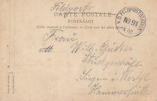 GERMAN MILITARY : undated K.D.FELDPOSTSTATION/NO 91 4/10 cancel on ppc.